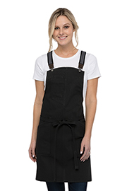 Berkeley Women's Petite Bib Apron: Jet Black