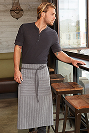 Brooklyn Bistro Apron: Charcoal-Gray