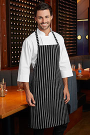 Chalk Stripe Bib Apron