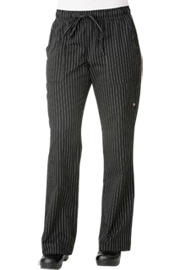 Womens Chef Pants: Pinstripe