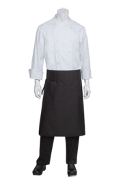 Tapered Chef Apron: Black