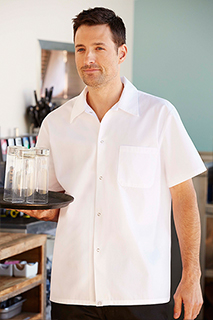 Utility Shirt: White - side view