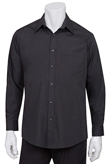 Men's Black Essential Dress Shirt - side view